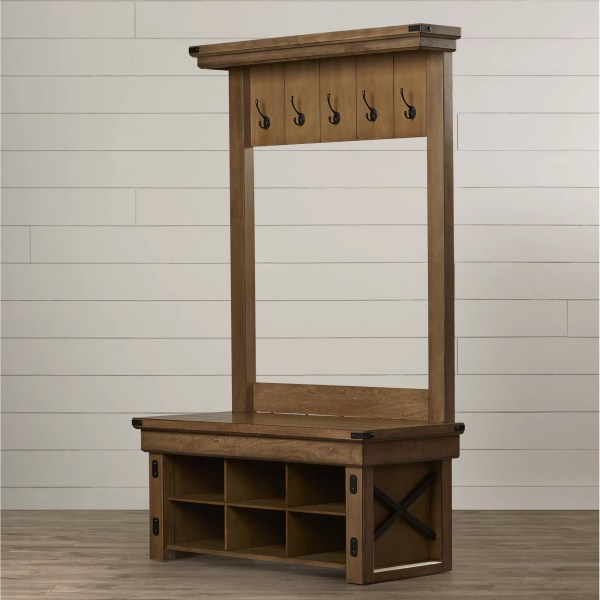 Hall Tree Entryway Bench with Storage