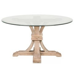 Round Glass Kitchen Tables Lighting One Allium Way Montcerf 54 Quot Dining Table