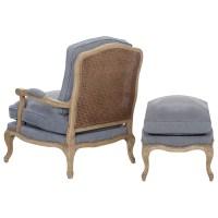 One Allium Way Devay Arm Chair and Ottoman & Reviews   Wayfair