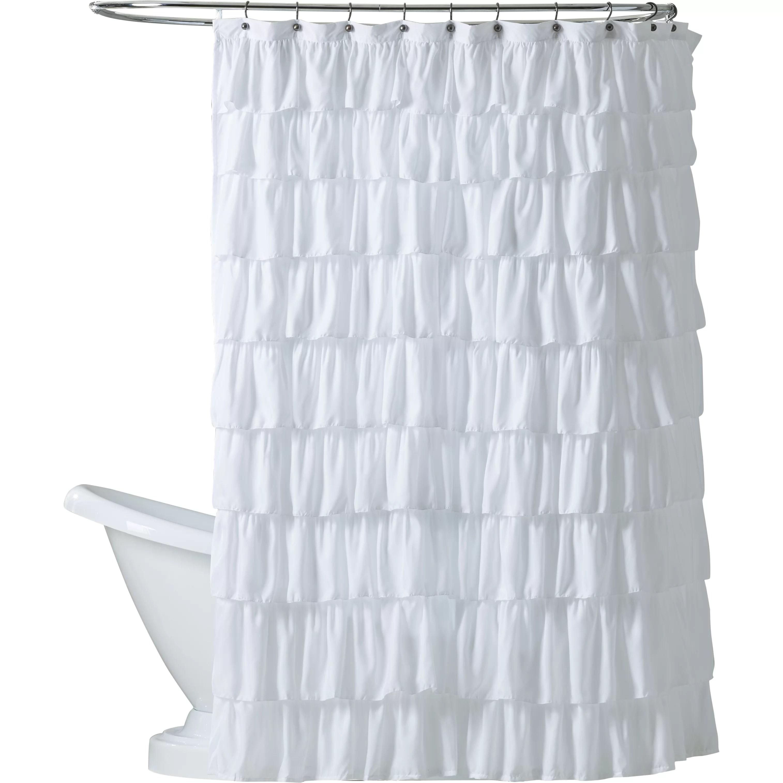 One Allium Way Marouane Ruffle Shower Curtain  Reviews