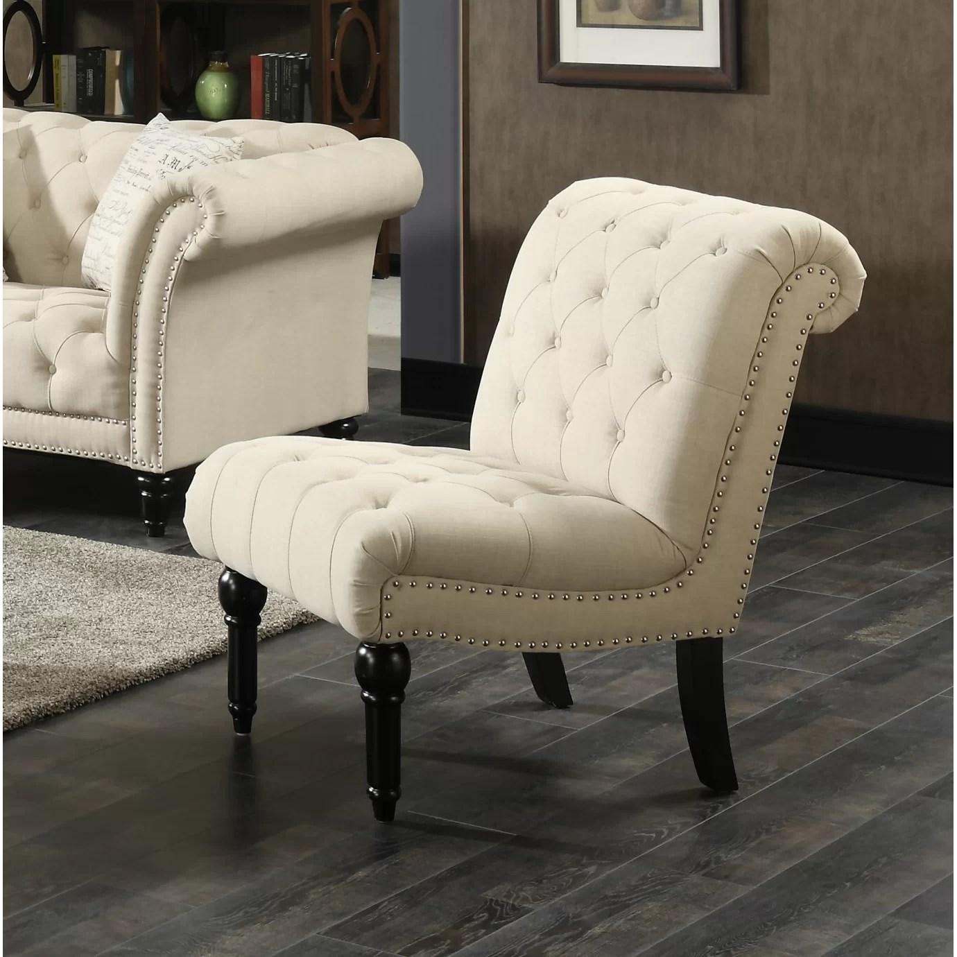 One Allium Way Narcisse Armless Slipper Chair  Wayfair