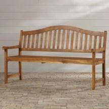 Beachcrest Home Volusia Wood Garden Bench &