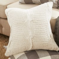 Beachcrest Home Loganville Cable Knit Throw Pillow