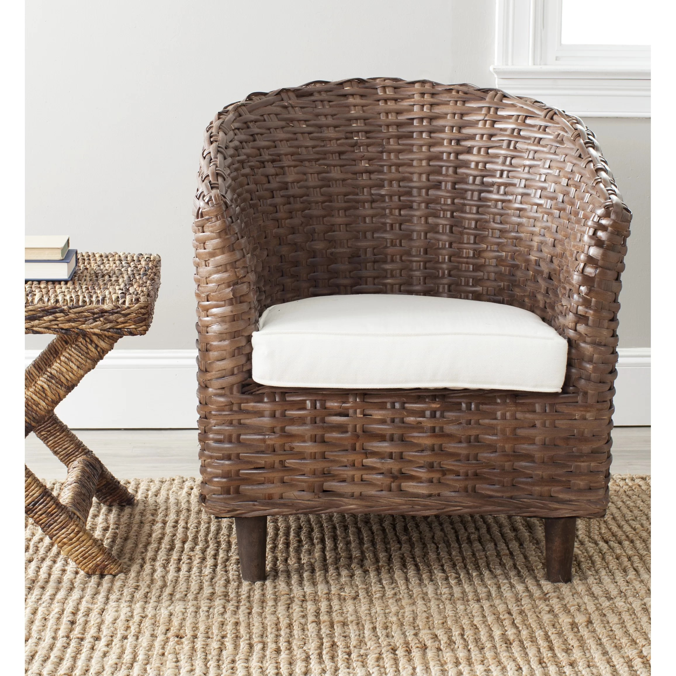 Barrell Chair Beachcrest Home Biscayne Fabric Barrel Chair And Reviews