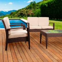 Beachcrest Home Aquia Creek 4 Piece Lounge Seating Group