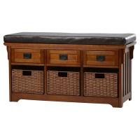 Loon Peak Hemlock Wooden Entryway Storage Bench & Reviews ...