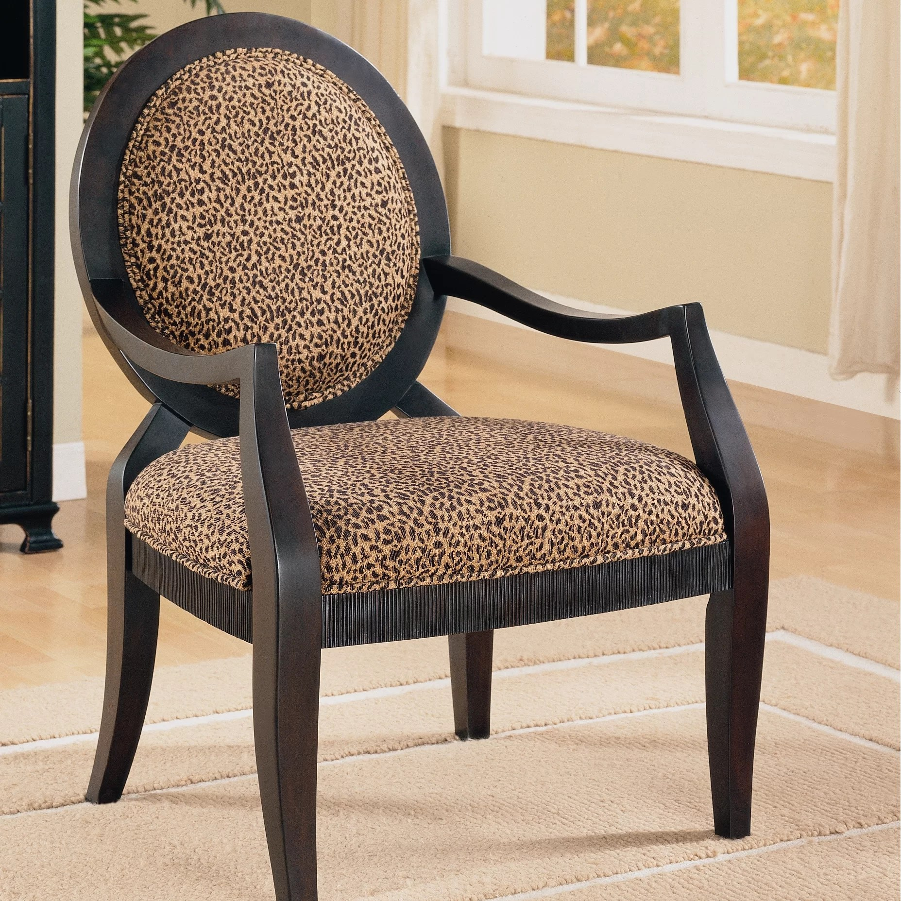 animal print accent chairs staples turcotte chair house of hampton leopard distressed fabric arm