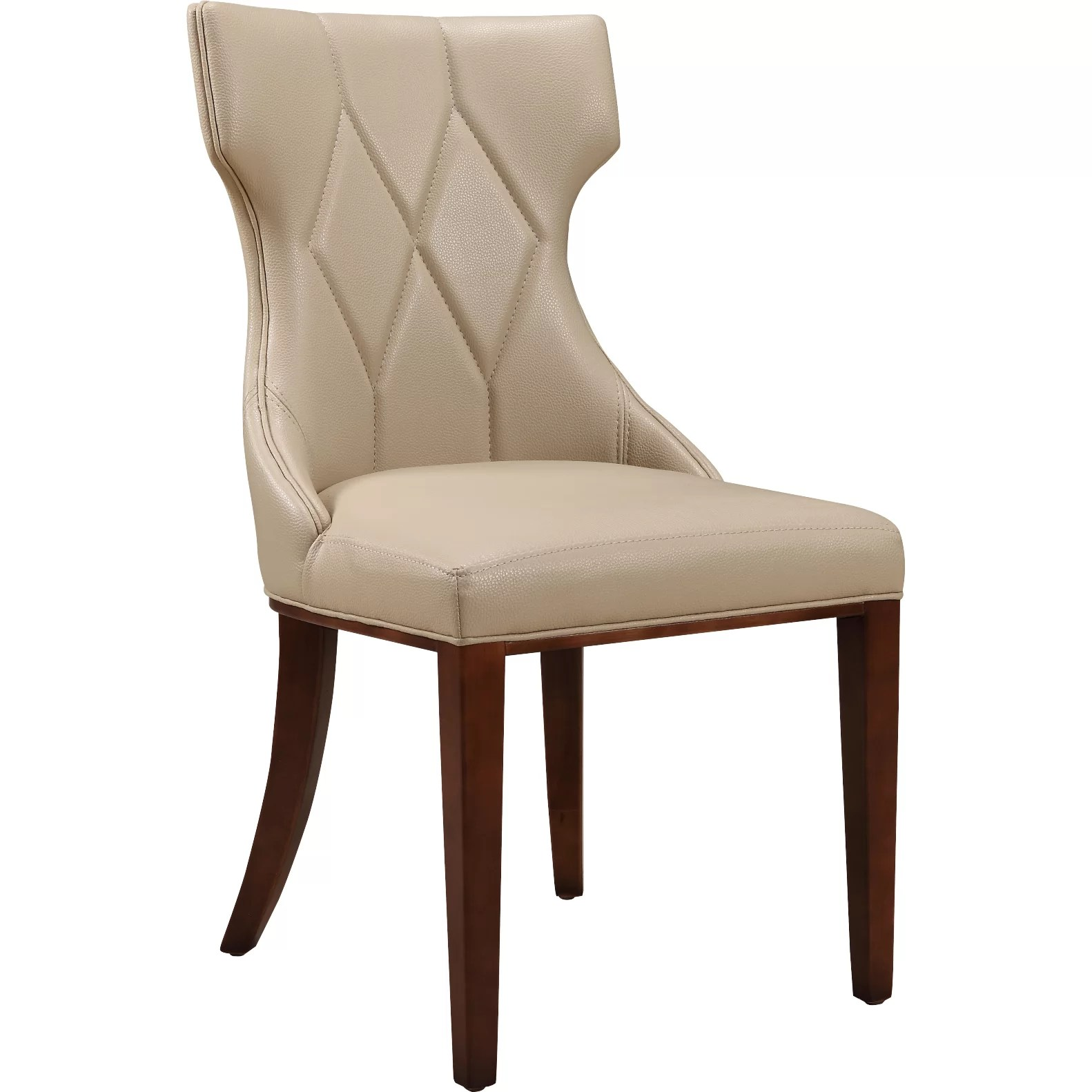 Leather Side Chair House Of Hampton Sutherland Leather Side Chair And Reviews