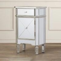House of Hampton Rhiannon 1 Drawer Mirrored Cabinet ...