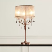 "ORE Furniture Rosie Crystal 32"" Table Lamp & Reviews 