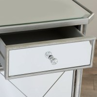 House of Hampton Rhiannon 1 Drawer Mirrored Cabinet