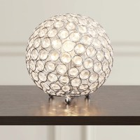 "House of Hampton Lamour Crystal Ball 8"" H Table Lamp with ..."