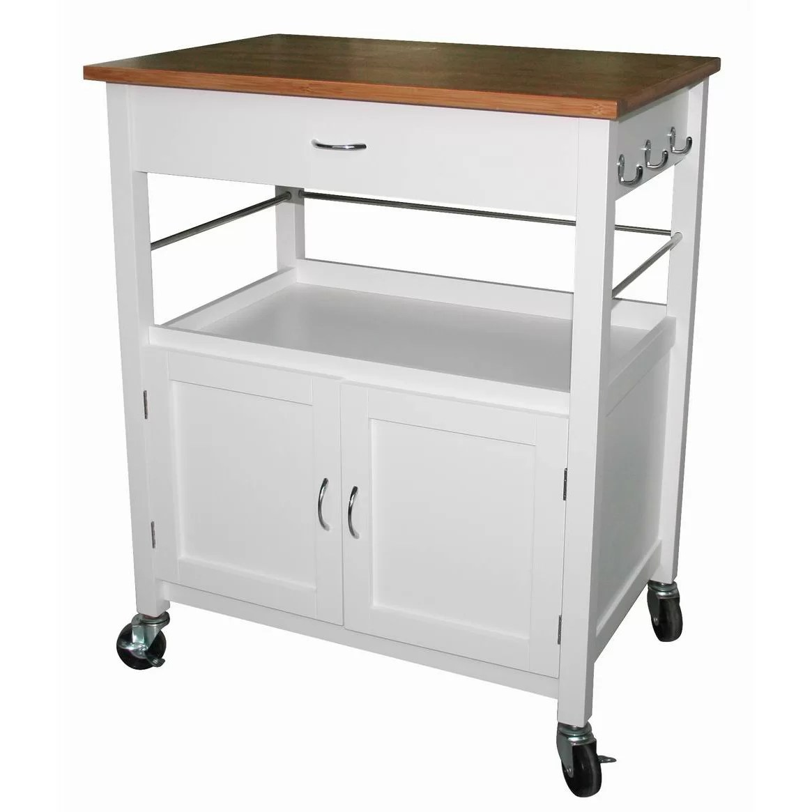 cart kitchen island 5 piece table set ehemco with natural butcher block