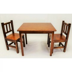 3 Piece Table And Chair Set Teak Patio Chairs Ehemco Kids Reviews Wayfair
