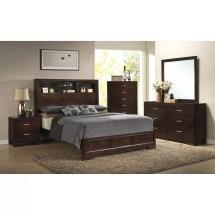 Roundhill Furniture Montana Storage Panel Bed &