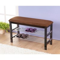 Roundhill Furniture Wood Shoe Bench & Reviews | Wayfair