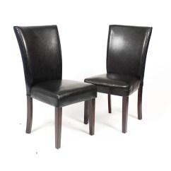Black Parsons Chair Lounge Folding Roundhill Furniture Leatherette Parson