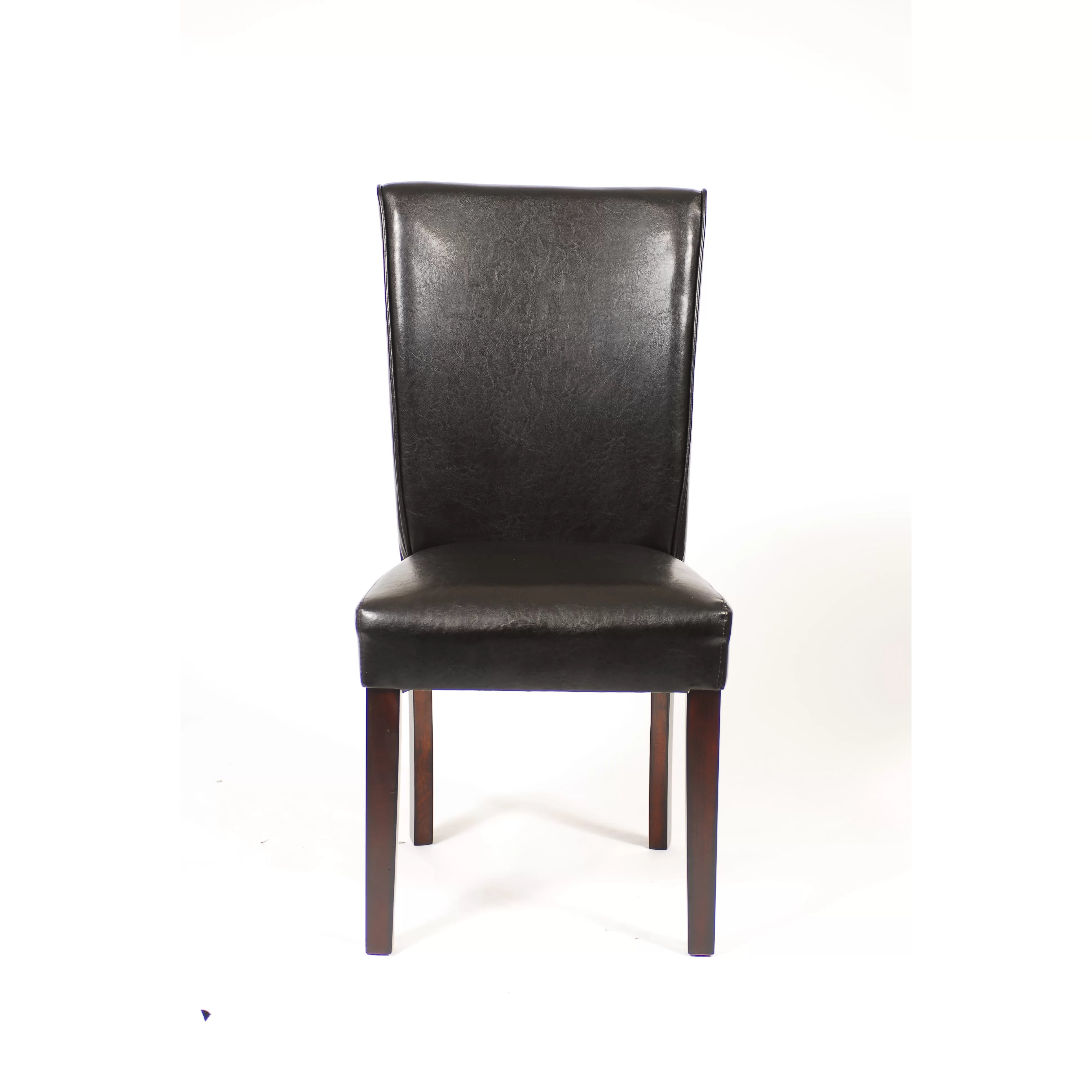 black parsons chair mickey mouse chairs and table roundhill furniture leatherette parson