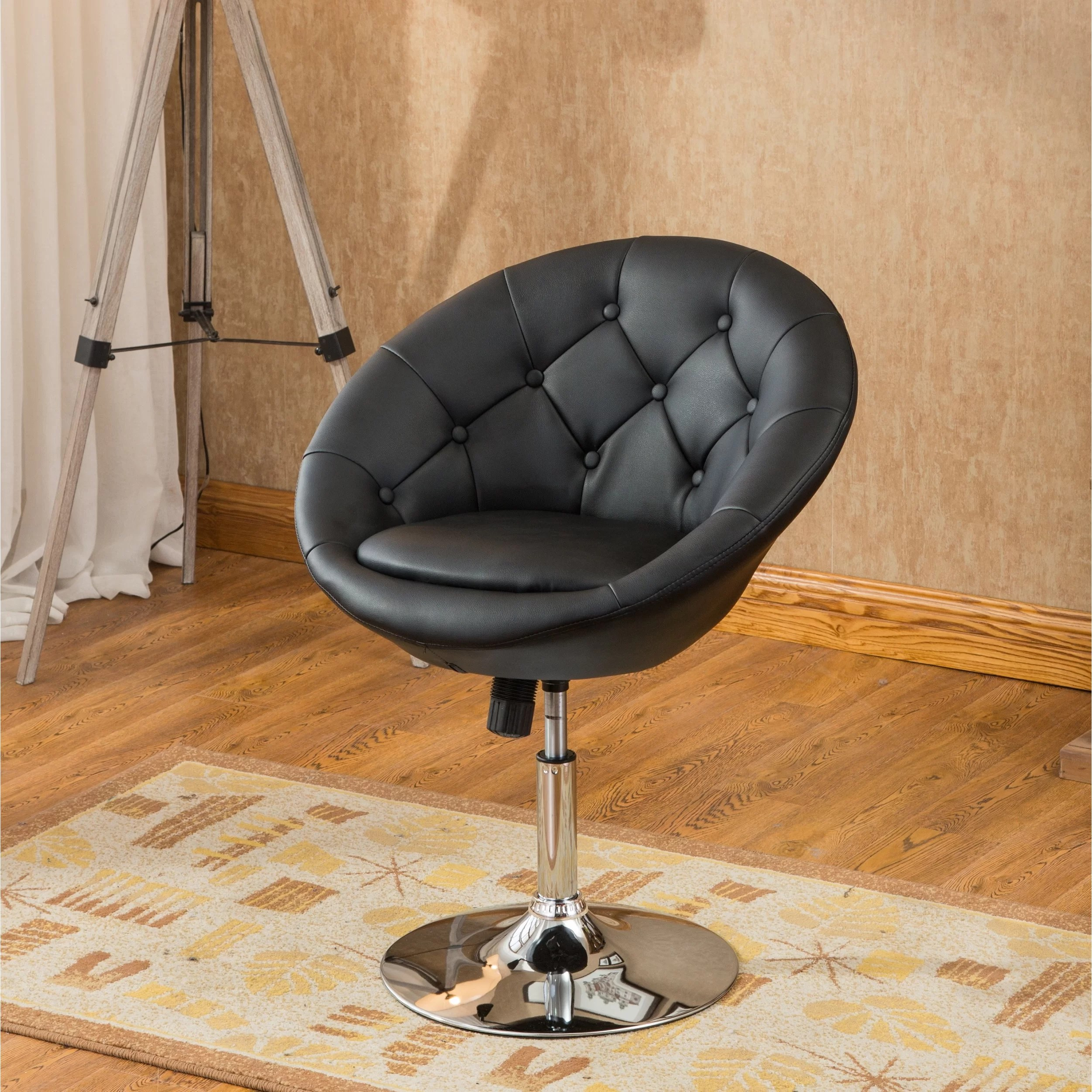 Contemporary Swivel Chairs Roundhill Furniture Noas Contemporary Tufted Back Tilt