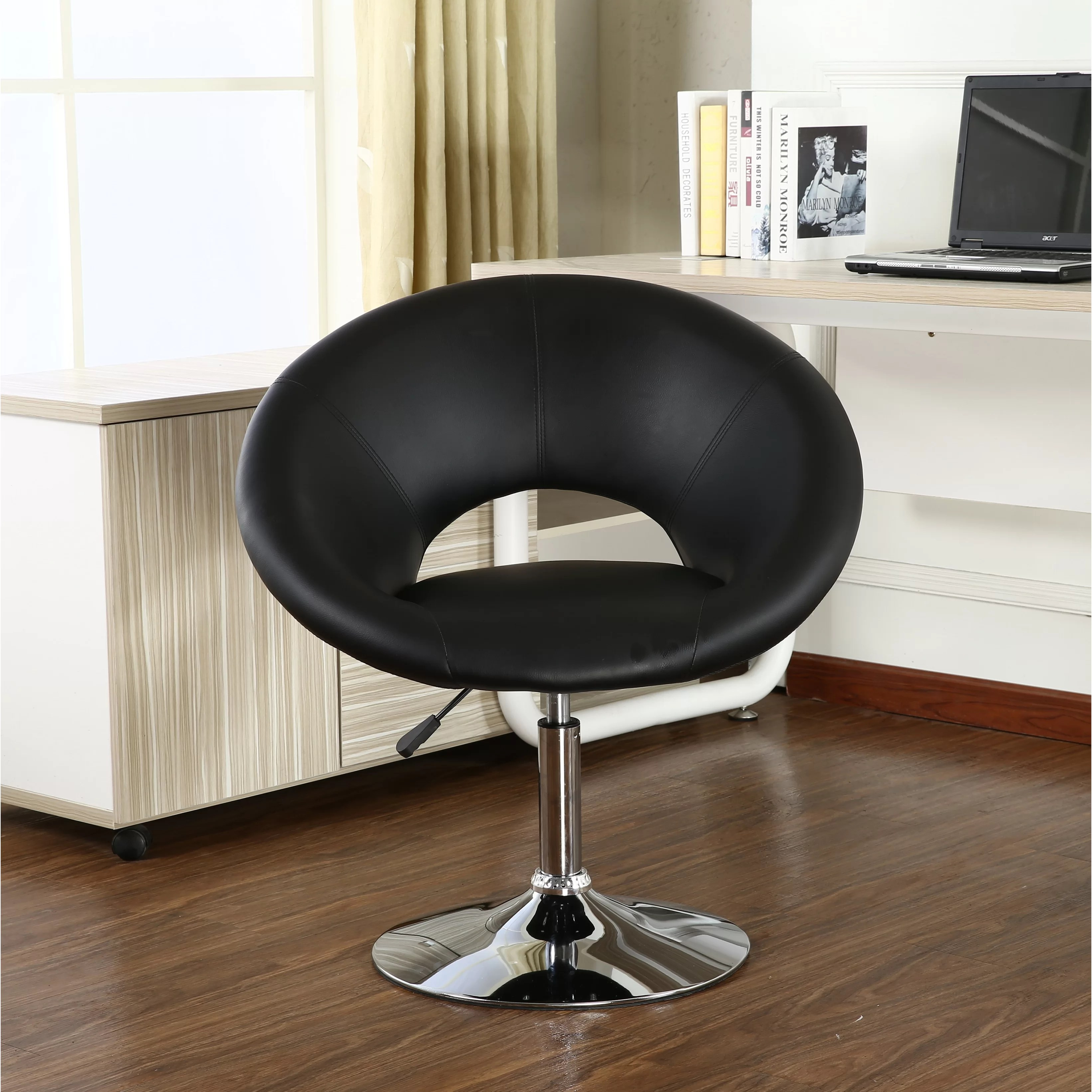 Contemporary Swivel Chairs Roundhill Furniture Contemporary Adjustable Swivel Papasan