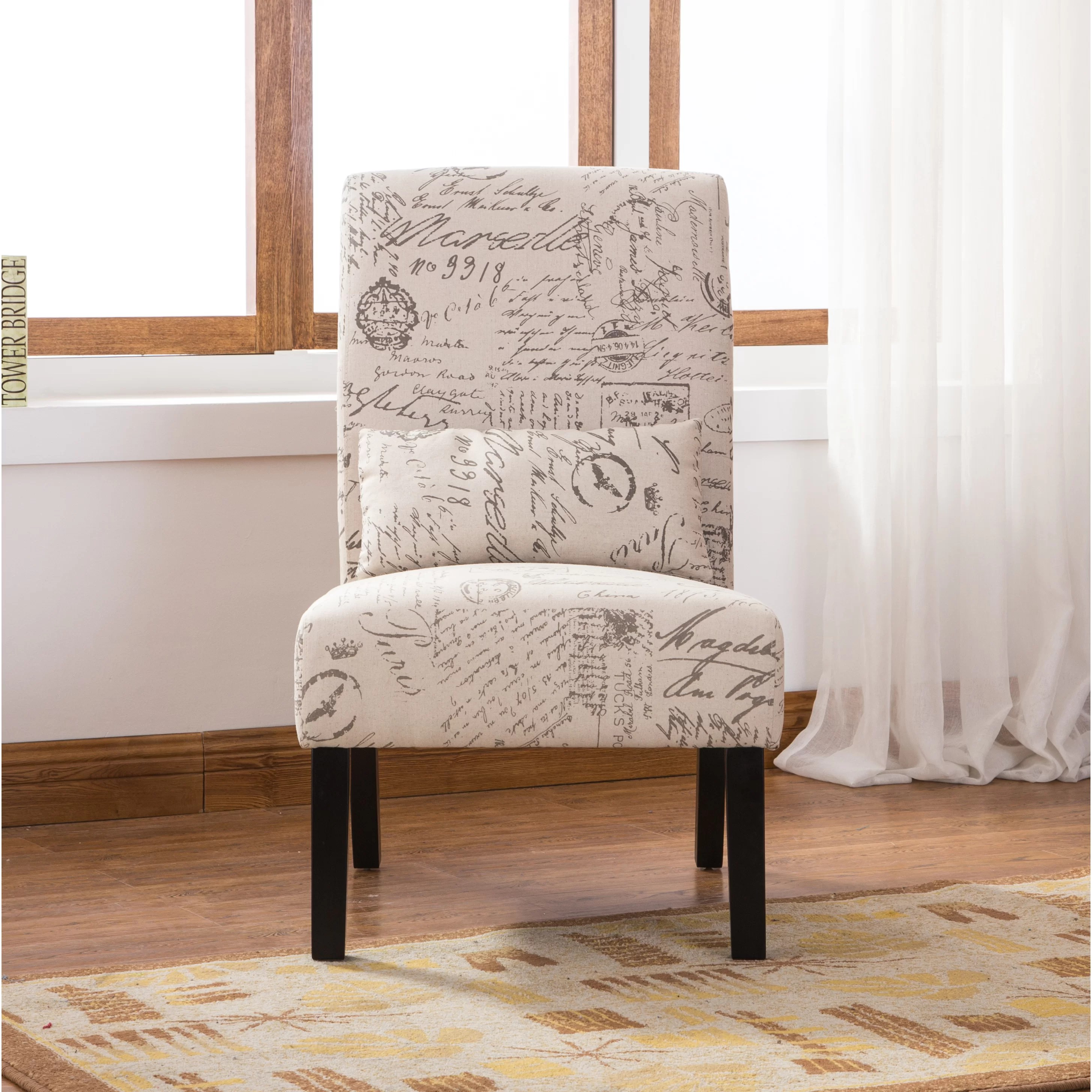 fabric side chairs swing chair the range roundhill furniture pisano english letter print