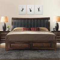 Roundhill Furniture Broval Platform 5 Piece Bedroom Set