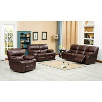 Roundhill Furniture Ewa 3 Piece Reclining Leather Living ...