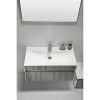"Eviva Ashy 36"" Single Modern Bathroom Vanity Set | Wayfair"