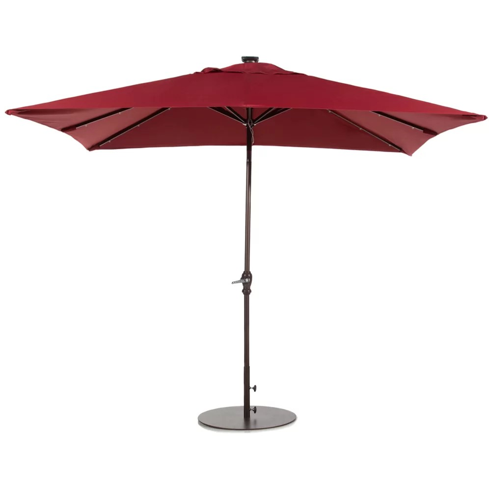 Abba Patio 7' x 9' Rectangular Illuminated Umbrella