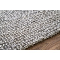 Bungalow Rose Fraida Jute Gray Area Rug & Reviews | Wayfair