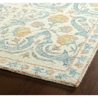 Bungalow Rose Habous Hand-Tufted Beige/Blue Area Rug ...