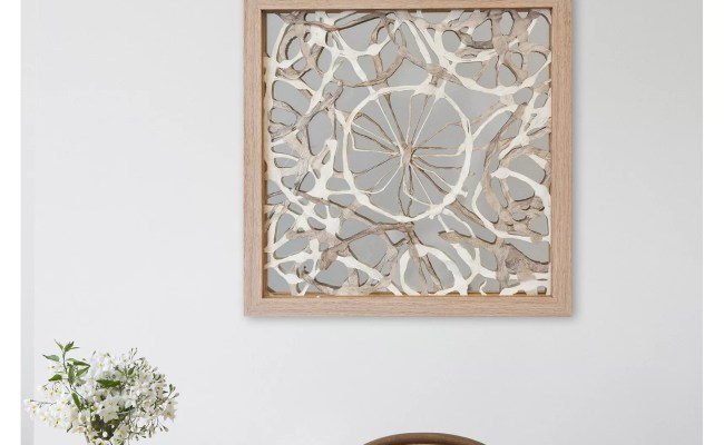 Bungalow Rose Abstract Layered Art Shadow Box Wall Décor