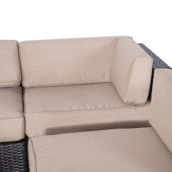 Outdoor Sofa Lounge Furniture Best Fabric For Cat Hair Outsunny 9 Piece Seating Group With Cushions