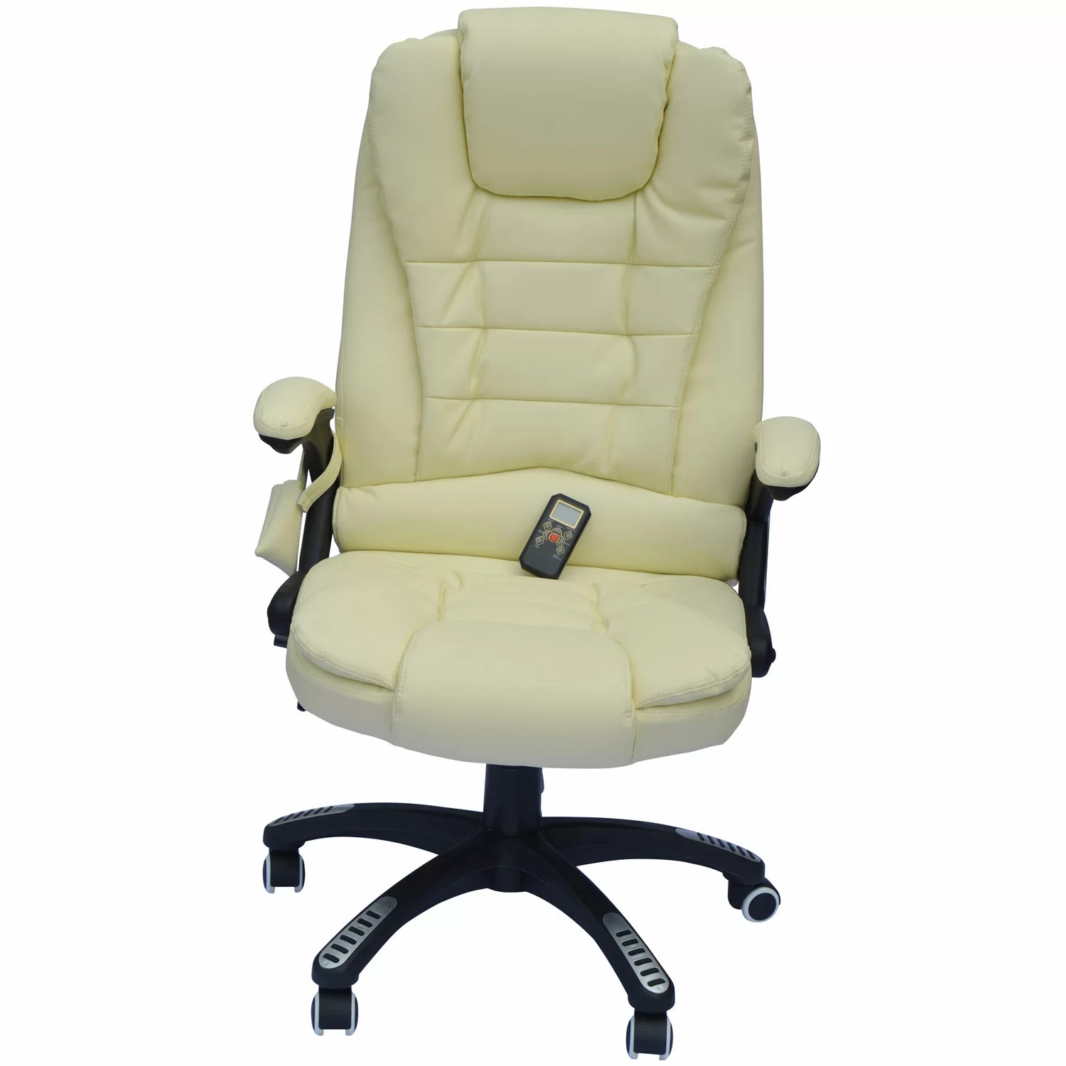 Message Chairs Homcom Homcom Faux Leather Heated Massage Chair And Reviews