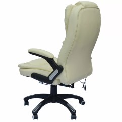 Heated Office Chair Acrylic Ghost With Chrome Frame Homcom Faux Leather Massage And Reviews