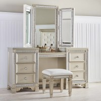Fairfax Home Collections Tiffany Vanity with Mirror | Wayfair