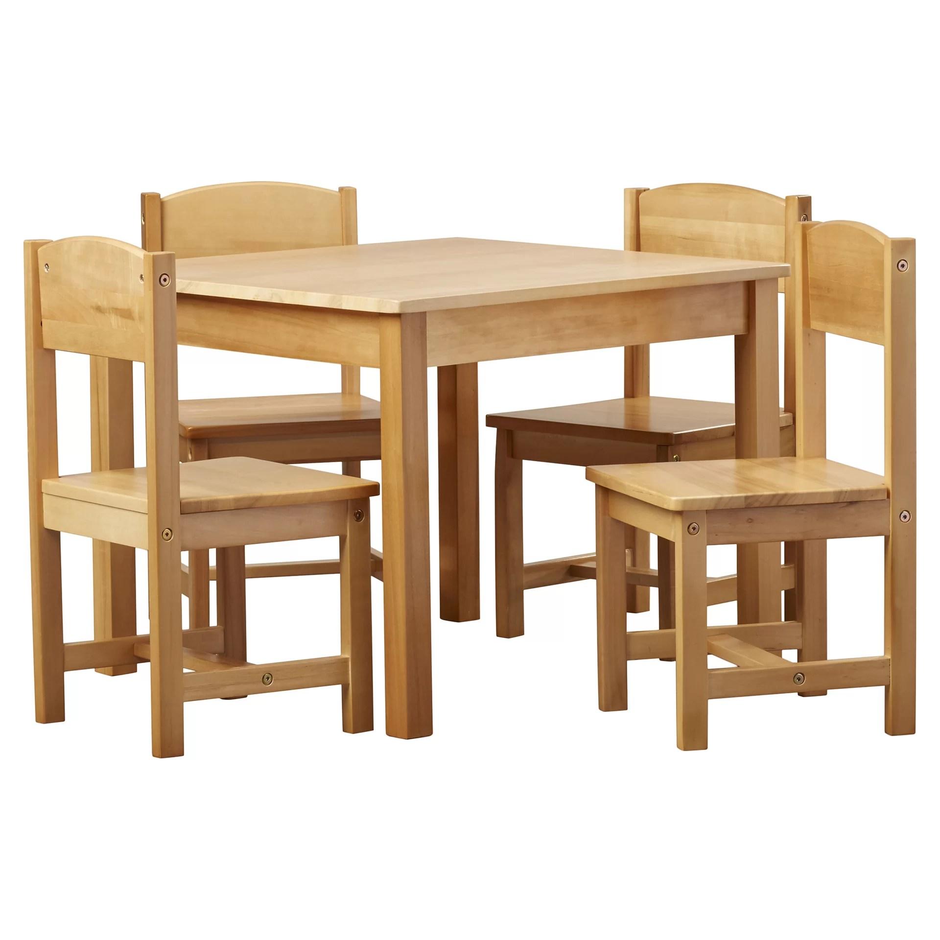 KidKraft Farmhouse Kids 5 Piece Table  Chair Set