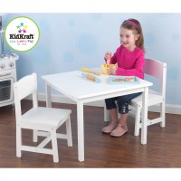 KidKraft Personalized Aspen Kids' 3 Piece Table and Chair ...