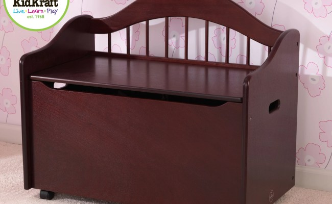 Kidkraft Personalized Limited Edition Toy Box In Cherry