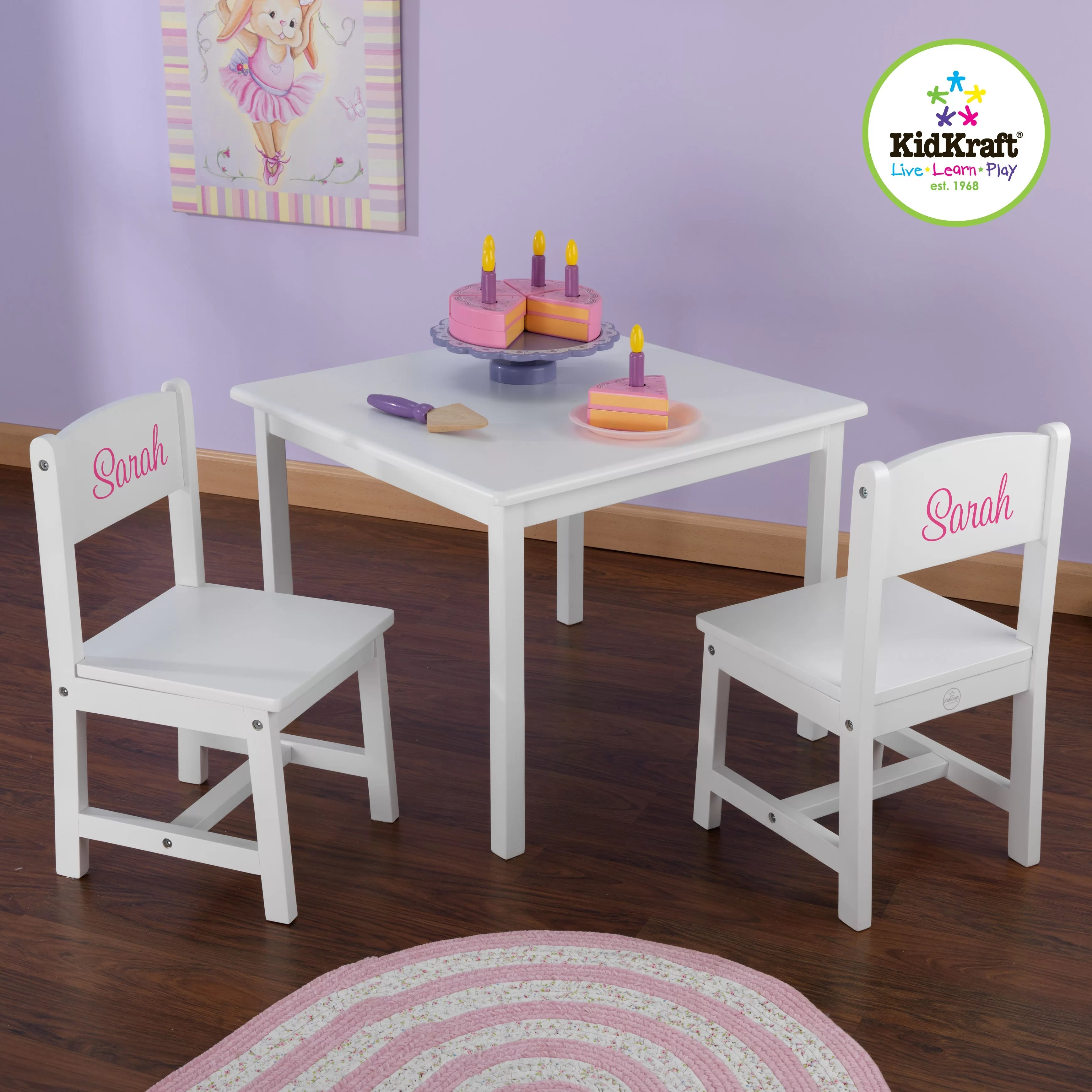 kidkraft table and chairs toddler personalized aspen kids 39 3 piece chair