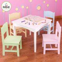 KidKraft Nantucket Kids 5 Piece Table & Chair Set ...