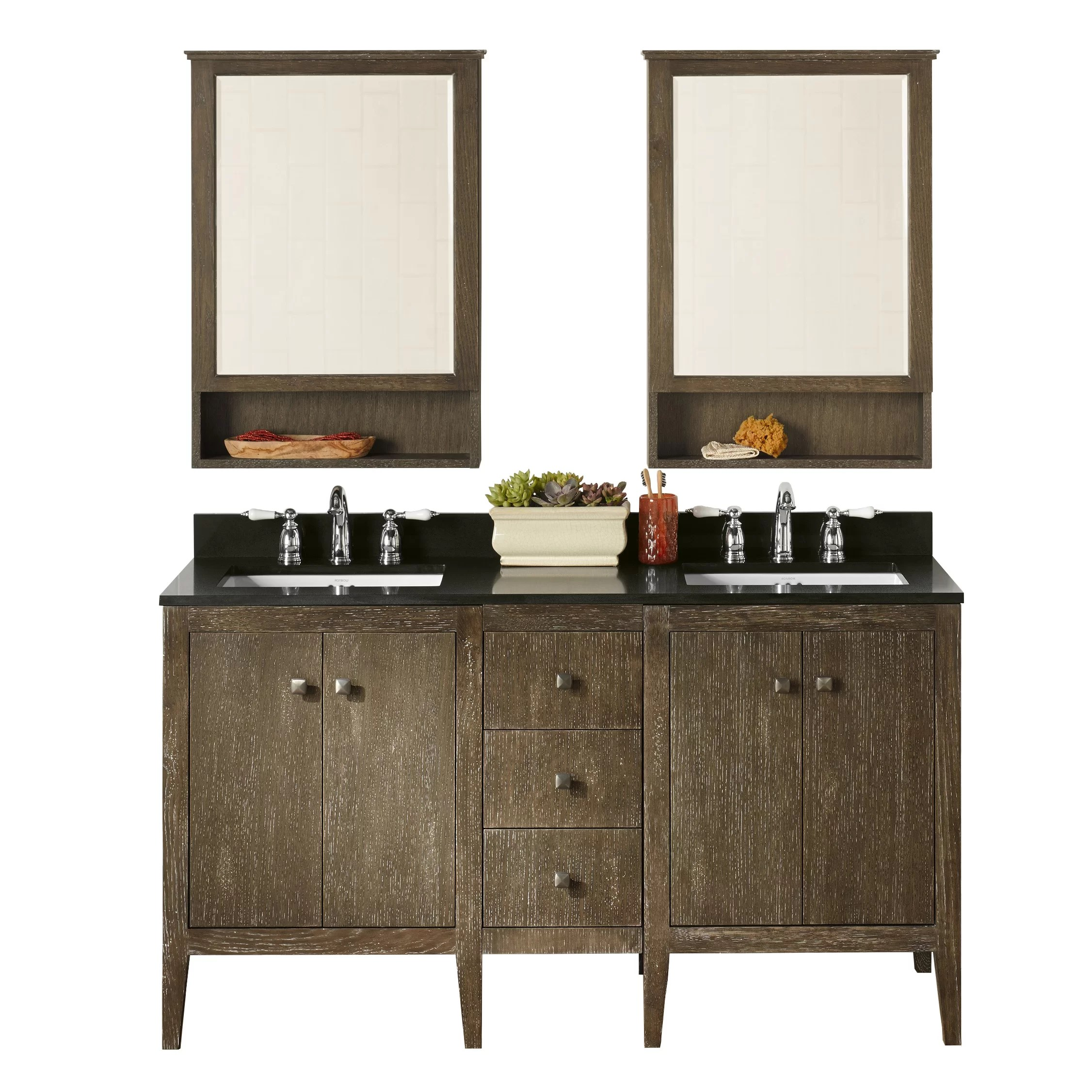 Ronbow Sophie 24 Double Bathroom Vanity Set with Mirror