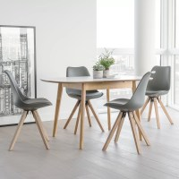 OutAndOutOriginal Dean Extendable Dining Table and 4 ...