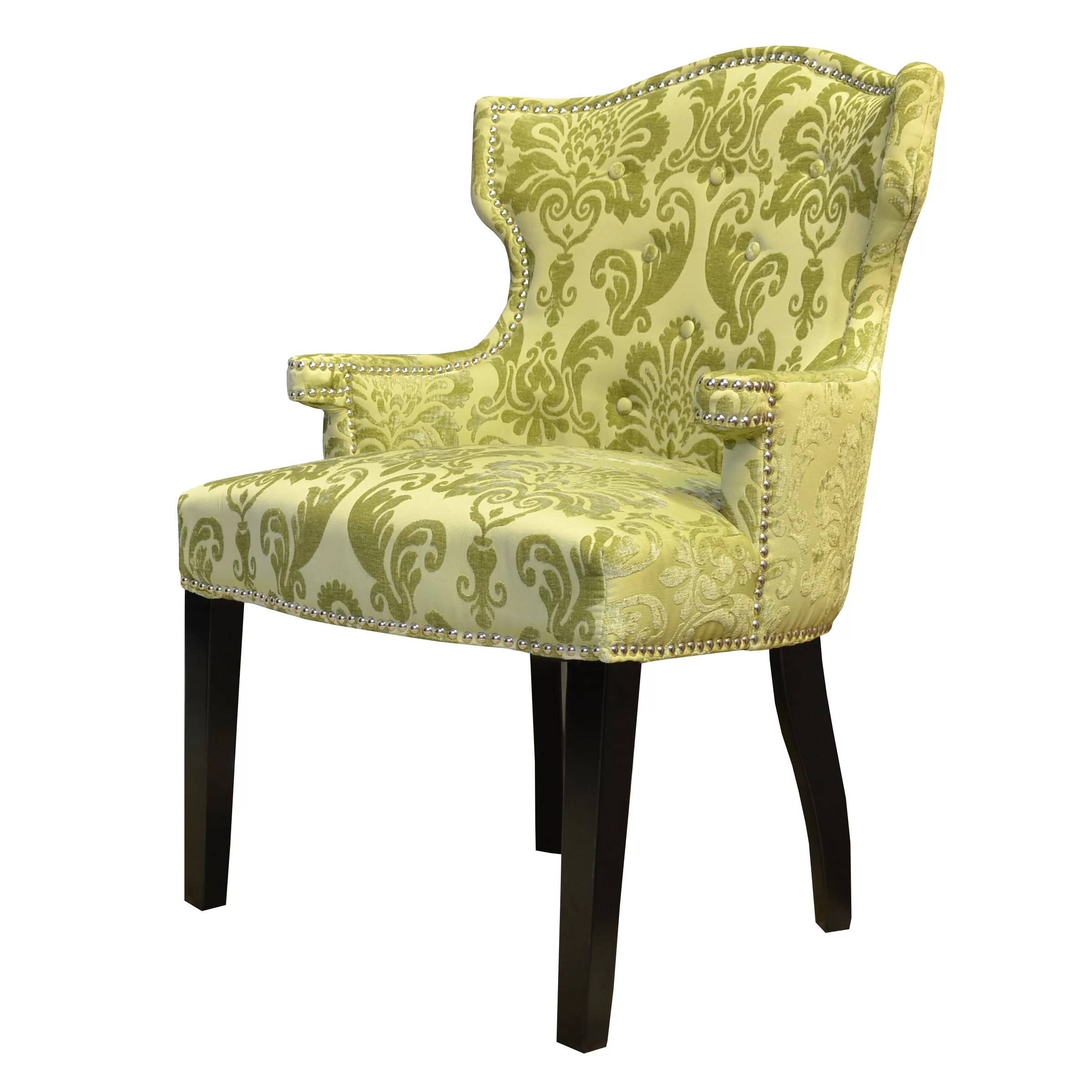damask accent chair ford flex with captains chairs hd couture brittania fan wingback and reviews