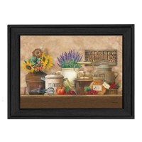 Trendy Decor 4U Antique Kitchen by Ed Wargo Framed