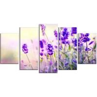 DesignArt 'Purple Lavender Field' 5 Piece Wall Art on ...