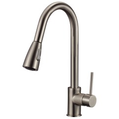 Single Handle Kitchen Faucet With Sprayer Reface Old Cabinets Upscale Designs By Ema Deck Mounted