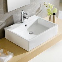 Fine Fixtures Modern Vitreous Rectangular Vessel Bathroom ...