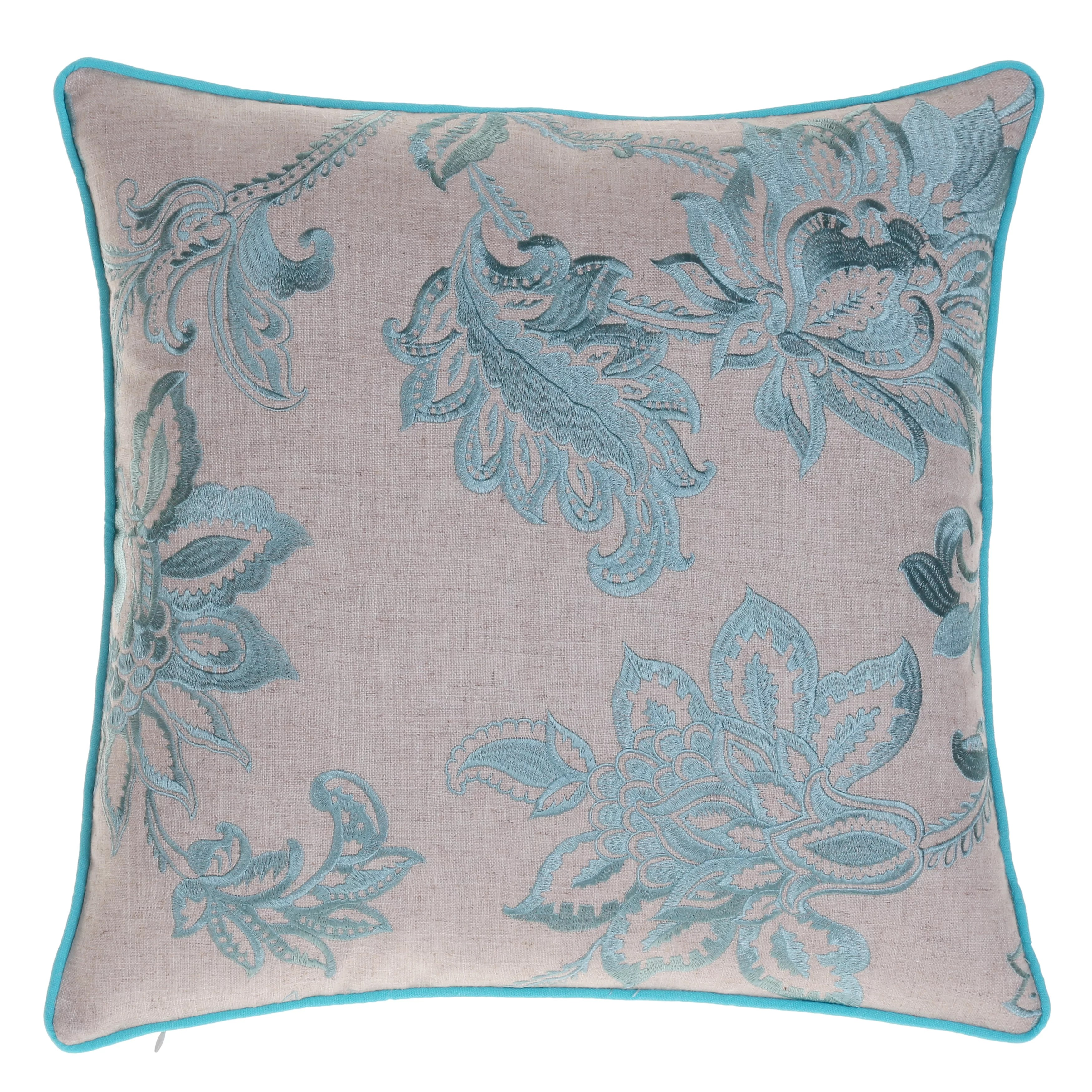 14 Karat Home Inc Embroidered French Country Throw Pillow