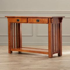 Oak Mission Sofa Table Custom Made Leather Sectional Sofas Leick Impeccable Console And Reviews Wayfair